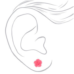Parisian Love Stud Earrings - Pink, 6 Pack,