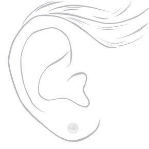 Parure de bijoux avec perles d'imitation à initiale couleur argentée - A, lot de 2,