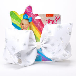 JoJo Siwa™ Snowflakes Hair Bow – White,