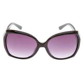 Geometric Large Sunglasses - Black,