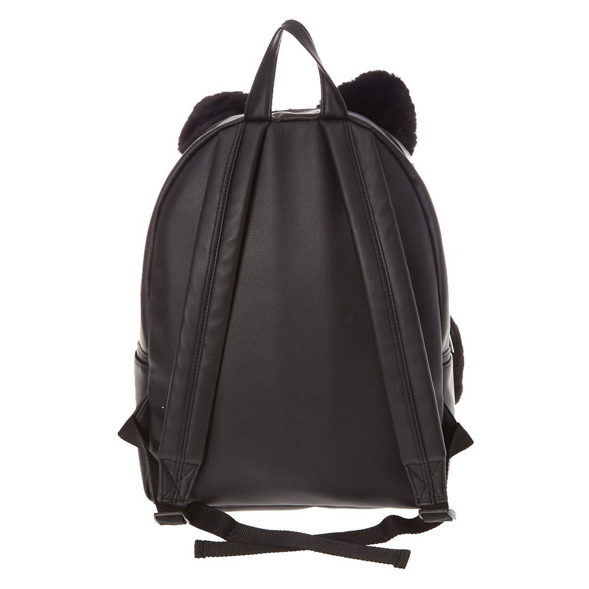 ef11e886a12beb Furry Black Cat Backpack | Claire's US