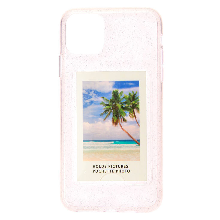 Clear Glitter Instax Mini Pocket Protective Phone Case - Fits iPhone® 11,
