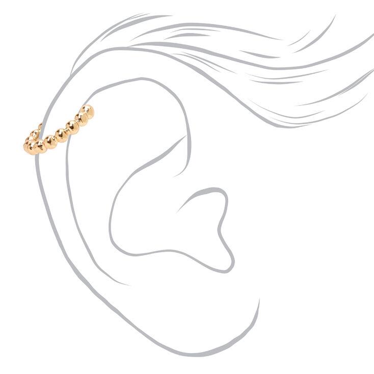 Manchettes d'oreilles billes incrustées en métaux mixtes - Lot de 2,
