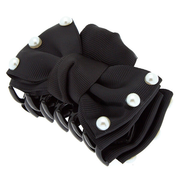 Claire's - pearl bow hair claw - 1