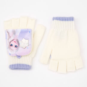 ©Disney Frozen 2 Elsa Fingerless Gloves With Mitten Flap – White,