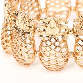 Gold Pineapple Stretch Bracelet,