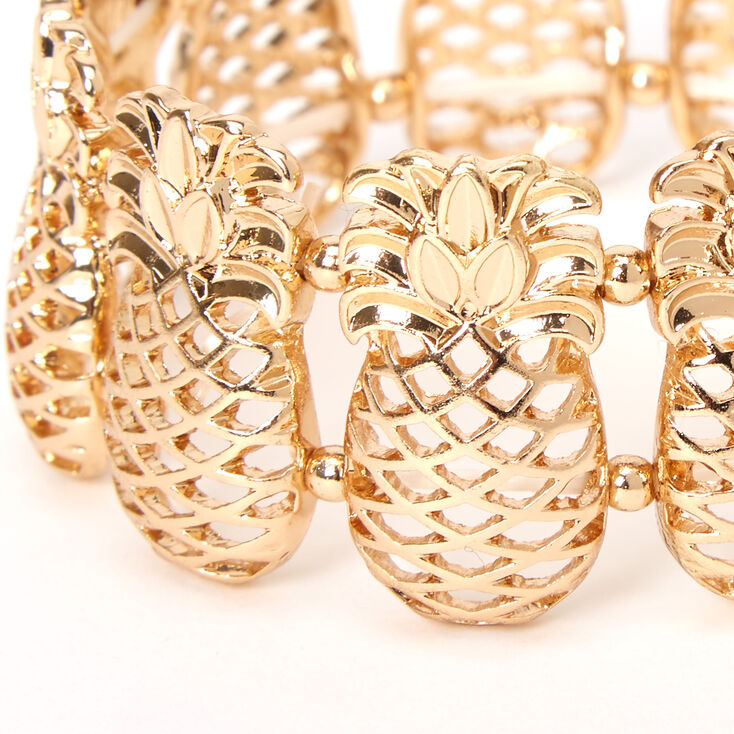 Gold Pineapple Stretch Bracelet,