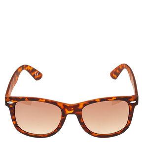 Tortoiseshell Print Retro Sunglasses,