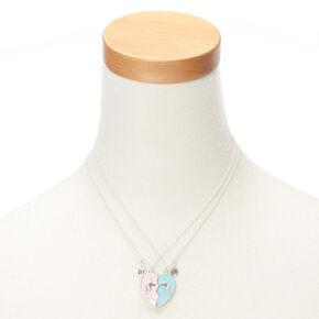 Best Friends Unicorn Heart Pendant Necklaces - 2 Pack