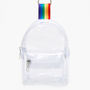 Clear Mini Backpack Keychain,