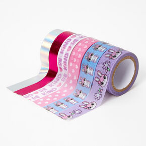 Pink Bunny Washi Tape Set - 6 Pack,