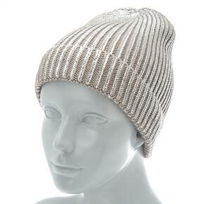 5ba0ba483aff2 Foil Knit Beanie - Silver