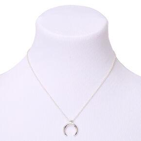 Silver Horn Pendant Necklace,