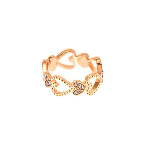 Rose Gold Heart Ring,