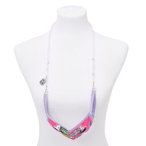 L.O.L. Surprise!™  Beaded Cloth Face Mask Lanyard - White,