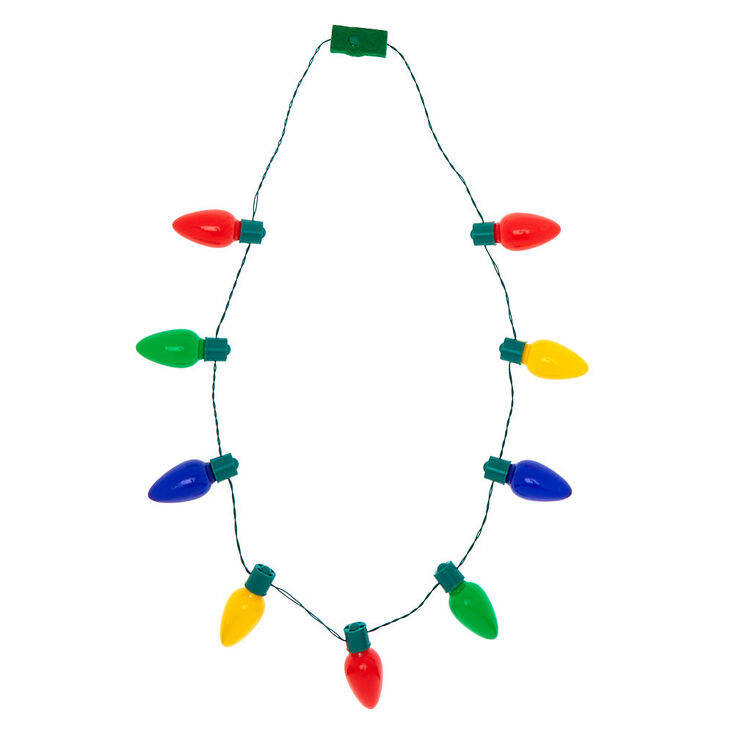 Light Up Christmas Necklace.Light Up Christmas Lights Necklace