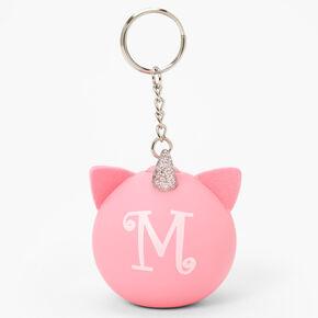 Porte-clés balle anti-stress licorne initiale - Rose, M,