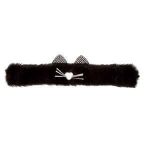 Furry Cat Slap Bracelet - Black,