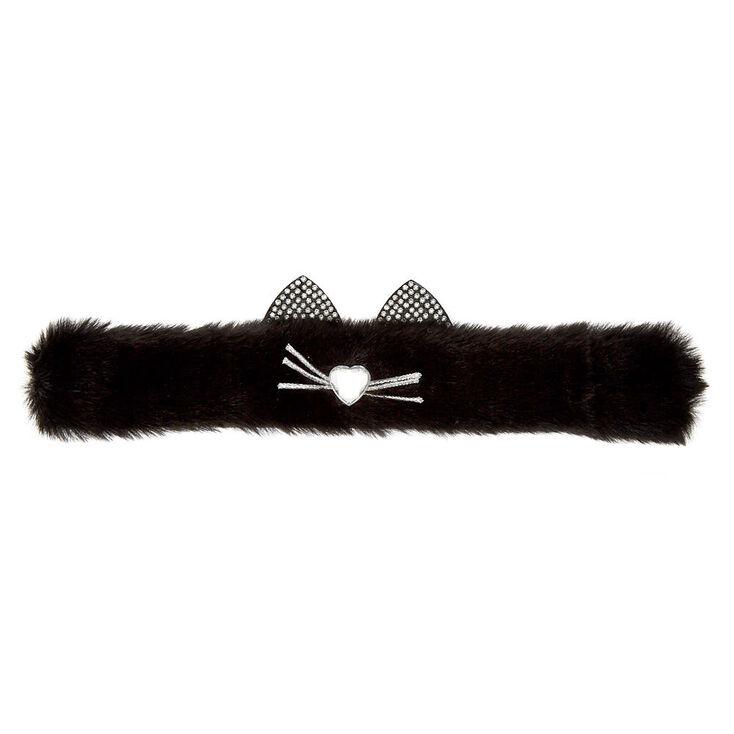 Furry Cat Slap Bracelet - Black,