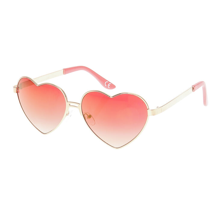 3ce6a5cbee Rose Gold Heart Shape Sunglasses