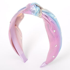 Pastel Mermaid Knotted Headband - Purple,