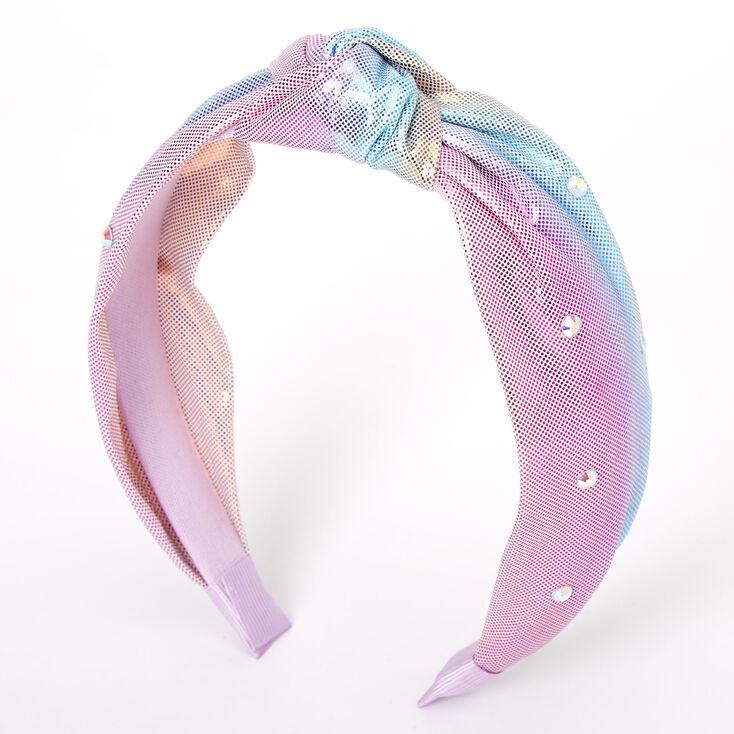 Pastel Mermaid Knotted Headband - Purple,