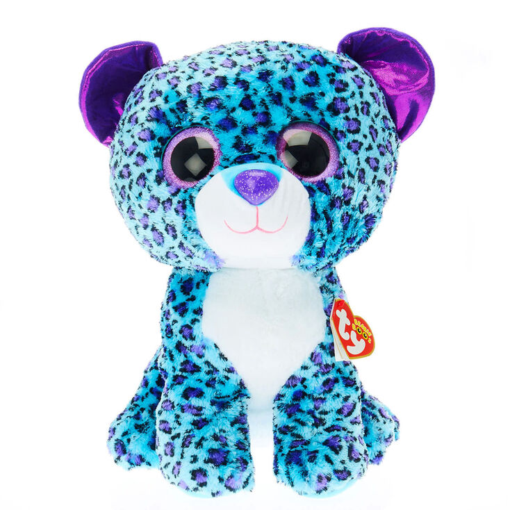 Ty Beanie Boo Large Lizzie The Leopard Plush Toy Claire S Us