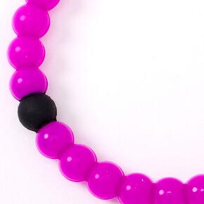 Neon Fortune Stretch Bracelet - Purple,