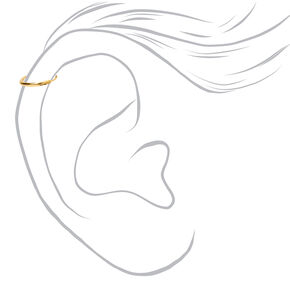 Gold Sterling Silver 22G Cartilage Hoop Earrings - 3 Pack,