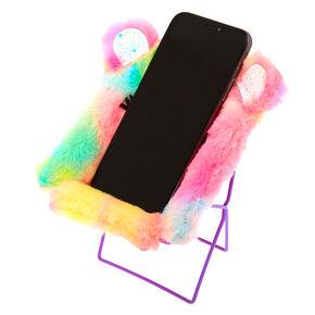 Rainbow Bear Phone Holder Chair,