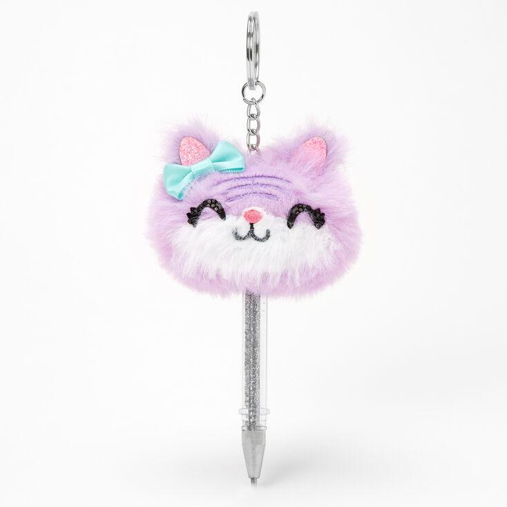 Kitty Mini Keychain Pen - Purple,