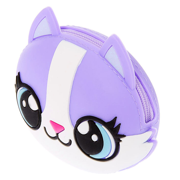 Carly the Cat Jelly Coin Purse - Purple,