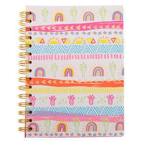 Aztec Summer Sun Rainbow Notebook,