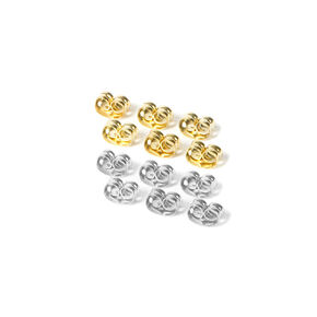 Mixed Metal Earring Back Replacements - 12 Pack,