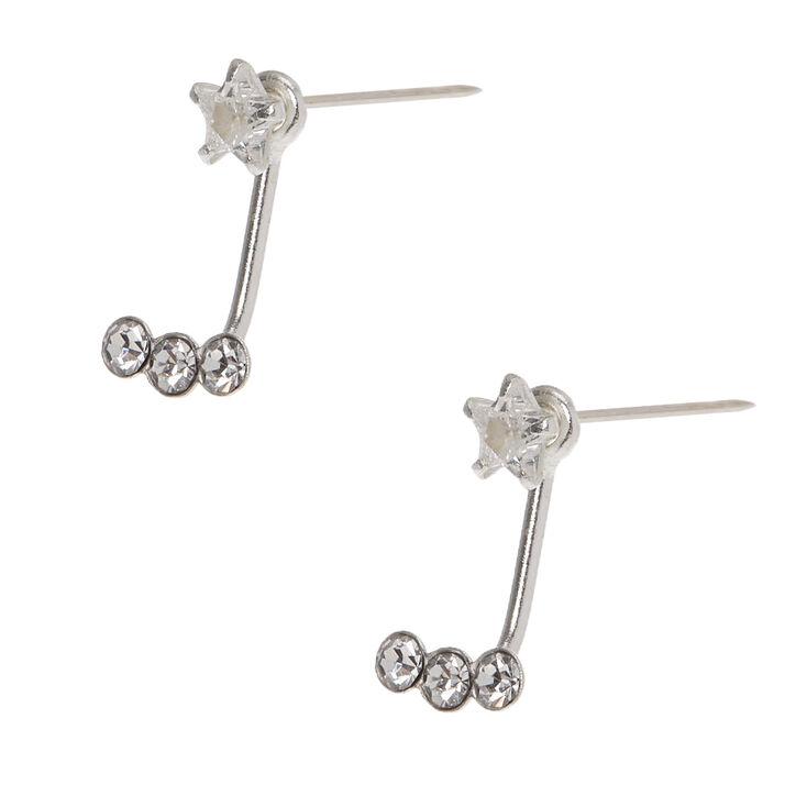 Sterling Silver Star Ear Jacket Earrings,