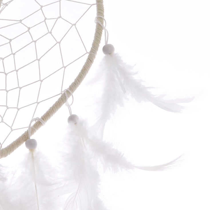 White Heart Feather Dreamcatcher,