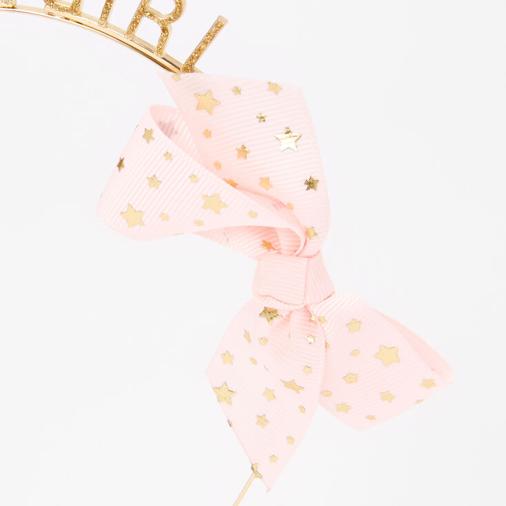 Gold Glitter Birthday Girl Headband,