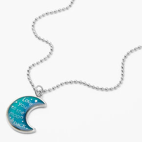 Mood Crescent Moon Pendant Necklace,
