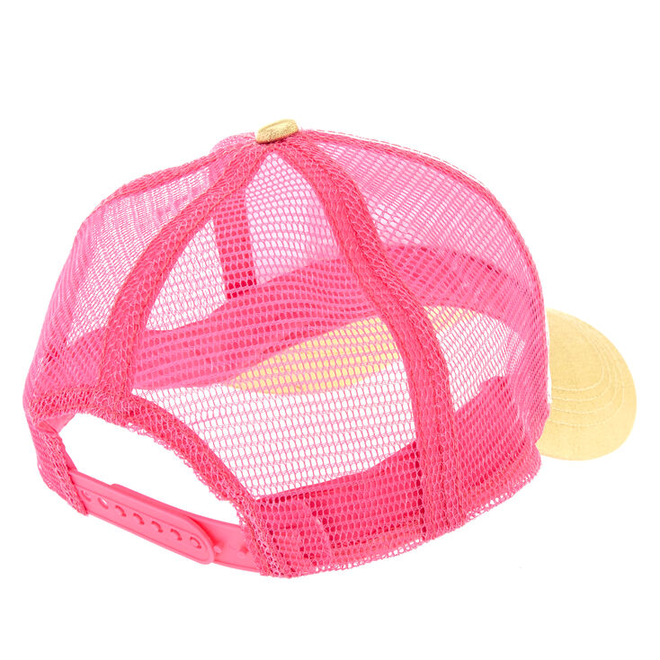 Pink & Gold Smile Trucker Hat,