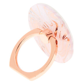 Rose Gold Marble Ring Stand - Pink,