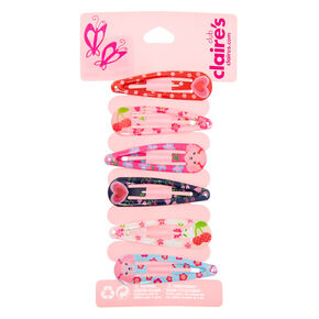Claire's Club Poodle Snap Hair Clips - 6 Pack,