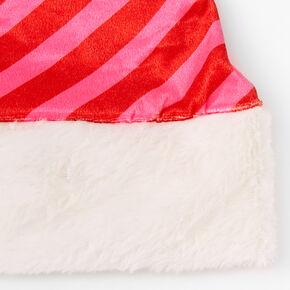 Pinstripe Santa Hat,