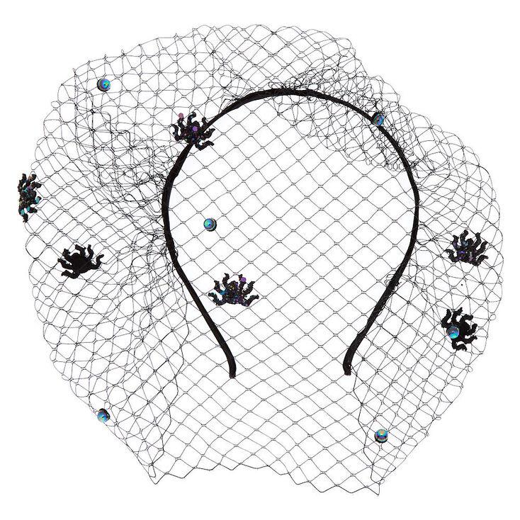 Spider Veil Headband - Black,