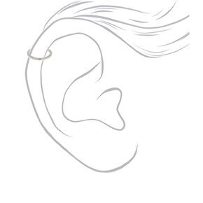Silver 16G Sleek Cartilage Clicker Hoop Earring,