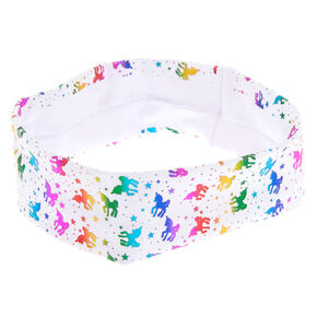 Rainbow Unicorn Headwrap - White,