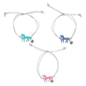 Best Friends Pearlized Unicorn Stretch Bracelets 3 Pack