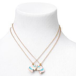 Best Friends Glitter Unicorn Pendant Necklaces - 2 Pack,