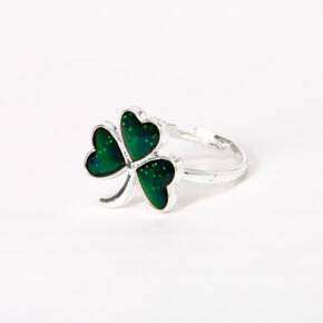 Silver Shamrock Mood Ring,