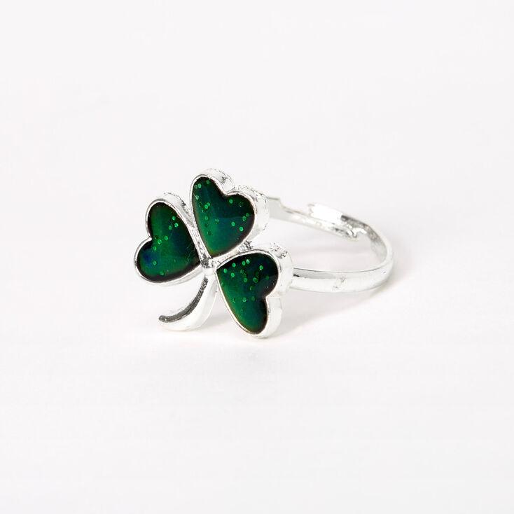 Silver Shamrock Mood Ring,