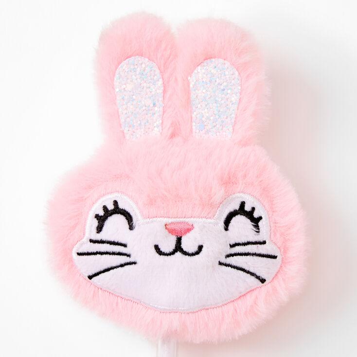 Bunny Rabbit Face Plush Pen - Pink,